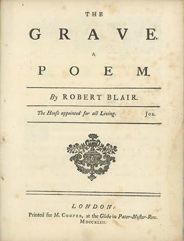 The Grave. A Poem. ROBERT BLAIR.