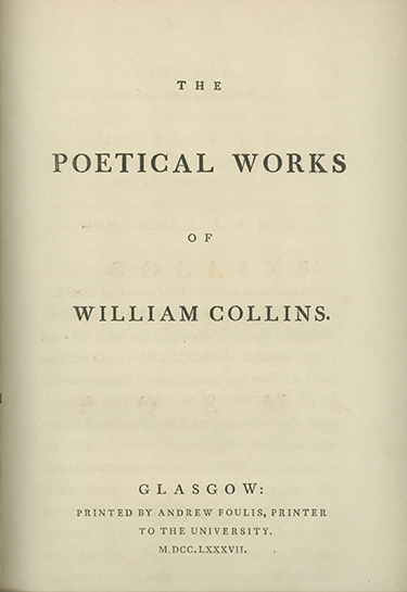 The Poetical Works of . . WILLIAM COLLINS.