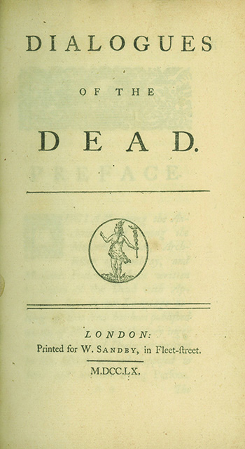 Dialogues of the Dead. GEORGE LYTTELTON, LORD.