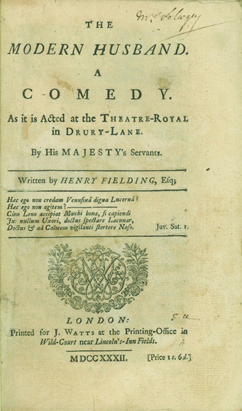 The Modern Husband. A Comedy. As it is Acted at the Theatre-Royal in Drury-Lane. HENRY FIELDING.