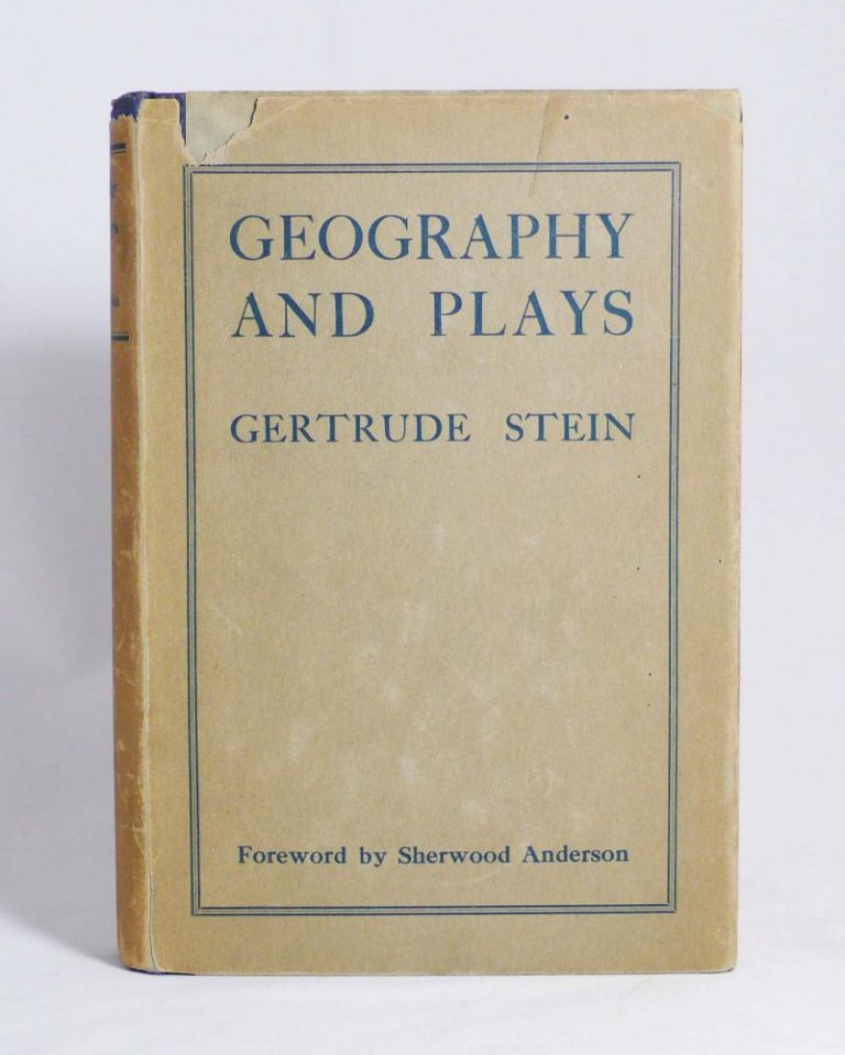 Geography and Plays. GERTRUDE STEIN.