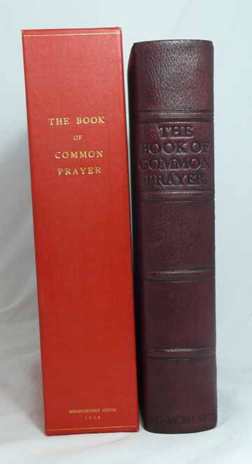 The Book of Common Prayer and Administration of the Sacraments and Other Rites and Ceremonies of the Church According to the Use of the Protestant Episcola Church in the United States of America. Together with the Psalter or Psalms of David. MERRYMOUNT PRESS.