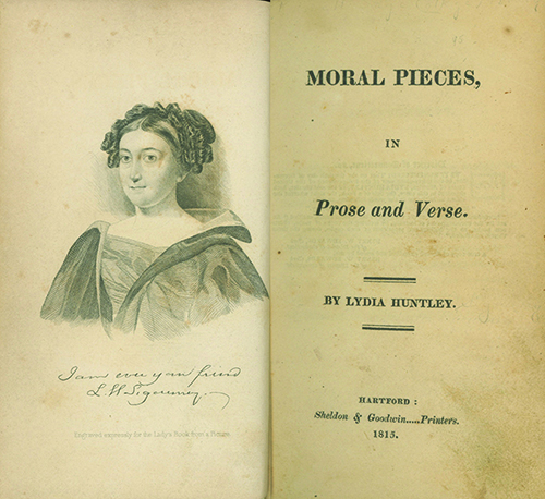 Moral Pieces in Prose and Verse. LYDIA HUNTLEY SIGOURNEY.