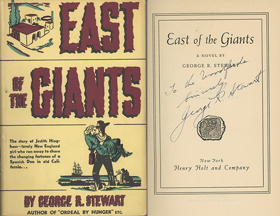 East of the Giants: A Novel. GEORGE R. STEWART.