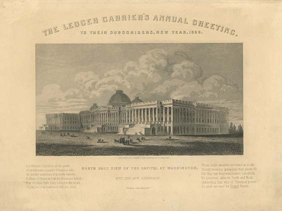 The Ledger Carrier's Annual Greeting. To Their Subscribers, New Year, 1858 [caption-title]. CARRIER'S ADDRESS.