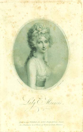 Poems. By Lady Manners. LADY CATHERINE REBECCA MANNERS.