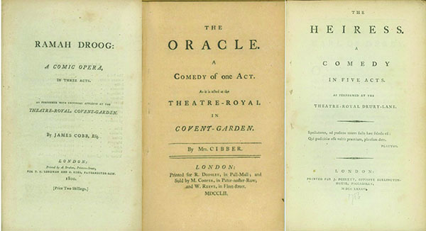 A collection of over 150 English Plays from 1750 to 1800, all first or significant, early editions. ENGLISH PLAYS, THEATER.