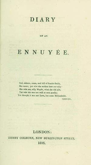 Diary of an Ennuyée. ANNA BROWNELL JAMESON.