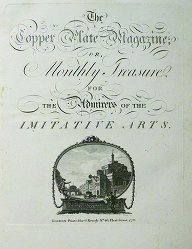 The Copper Plate Magazine; or, Monthly Treasure for the Admirers of the Imitative Arts. ENGLISH ILLUSTRATION.