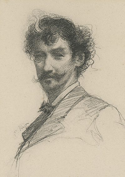 Lithographed portrait of James McNeill Whistler, after a chalk sketch by Paul Adolphe Rajon. JAMES MCNEILL WHISTLER, Paul Adolphe Rajon, Artist.