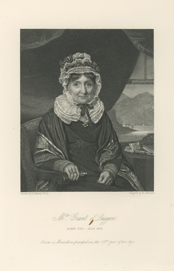 A collection of eleven first and later editions, and one holograph letter by Anne Grant (1755-1838), the Scottish poet, memoirist and prolific correspondent. ANNE GRANT, OF LAGGAN.