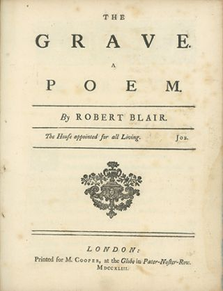 The Grave. A Poem . . ROBERT BLAIR.