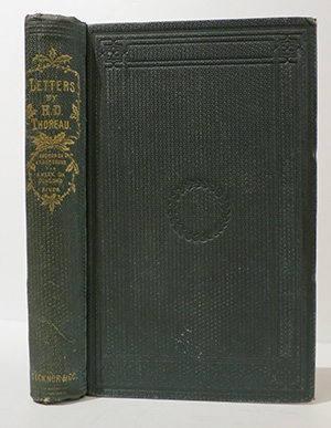 Letters to Various Persons. [Edited by Ralph Waldo Emerson.]. HENRY DAVID THOREAU.