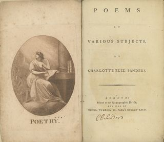 Poems on Various Occasions. CHAROLOTTE ELIZABETH SANDERS.