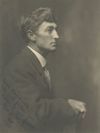 Original photographic portrait of poet George Sterling. GEORGE STERLING, William Dassonville, Photographer.