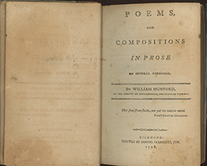 Poems, and Compositions in Prose on Several Occasions. WILLIAM MUNFORD.