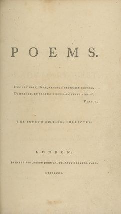 Poems. ANNA LAETITIA BARBAULD