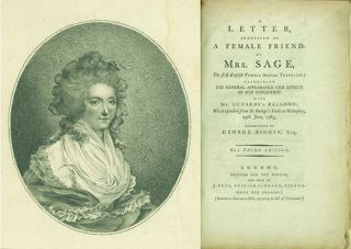 A Letter, Addressed to a Female Friend by Mrs. Sage, the First English Female Aerial Traveller;...