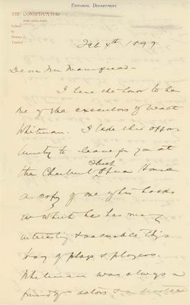 Two holograph letters and one note, signed and dated January 16, 1897, February 4, 1897 and January 5, 1912.