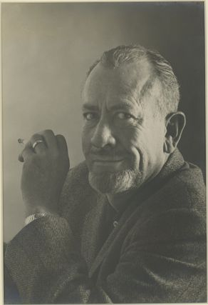 Original photographic silver print portrait of John Steinbeck. JOHN STEINBECK, William Ward...