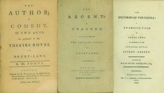 A collection of over 150 English Plays from 1750 to 1800, all first or significant, early editions.