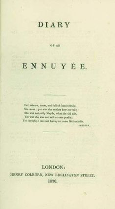 Diary of an Ennuyée. ANNA BROWNELL JAMESON