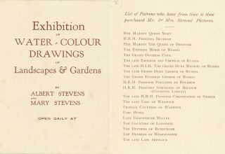 Original Sketches, Watercolors, Photographs, Correspondence, other Manuscript Material, Printed Ephemera and Contemporary Newspaper Reviews, of popular and prolific British Watercolorists Albert and Mary Stevens, who flourished between 1880 and 1925.