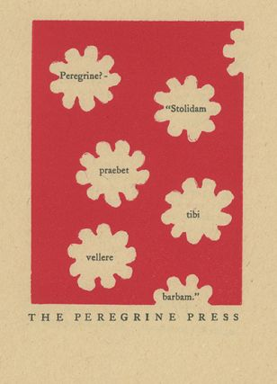 A collection of all of the primary publications of the Peregrine Press and the Porpoise Bookshop from 1948 to 1963 and a significant selection of the published work of Henry Evans, Printmaker, from 1963 to 1990. Many of the publications of the Press and Bookshop were issued in editions of 25 or fewer copies; rarely were they issued in more than 150 copies. The publications of Henry Evans, Printmaker – the botanical print portfolios - were usually issued in editions that ranged from 10 to 20 copies each. Present also is a large selection of printed ephemera, correspondence, original art and material about Henry Evans, the Bookshop, Press and Printmaker.