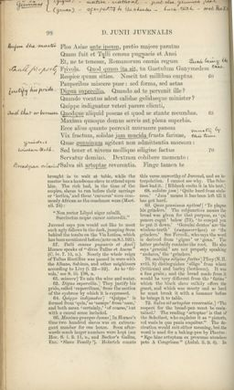 Decii Junii Juvenalis et A. Persii Flacci Satirae. With a Commentary by the Rev. Arthur John Macleane.